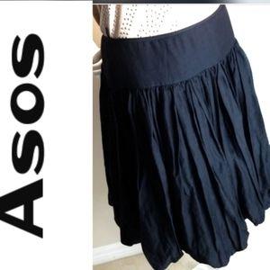 Asos Bubble Midi Black Skirt - Size 8